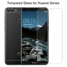 9H HD Tempered Glass for Huawei Y5 ii Y6 Pro 2017 Y3 2018 Y7 Prime Screen Glass for Huawei P Smart Plus Glass on Y6 ii Y3 ii(China)