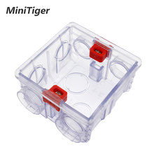 Minitiger caja de montaje transparente ajustable casete interno 86mm * 83mm * 50mm para 86 tipos WIFI Touch interruptor y enchufe USB(China)