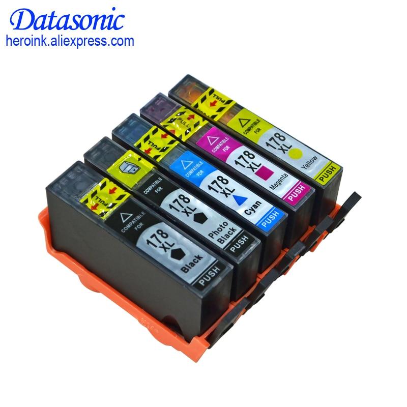 DAT for hp178 178XL ink Cartridge for HP Photosmart B109 B110 B210 C309 C310 C410 D5468 D5463 D5460 5510 5511 5512 6512 printer