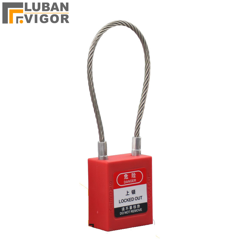 Stainless steel cable safety padlock Lockout isolation lock ABS Industrial Engineering,Master key,for Engineering Power
