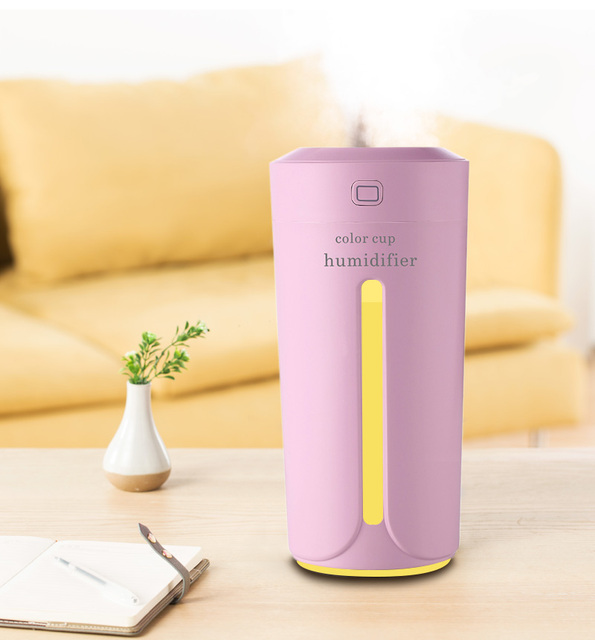 USB Ultrasonic Air Humidifier with LED Light