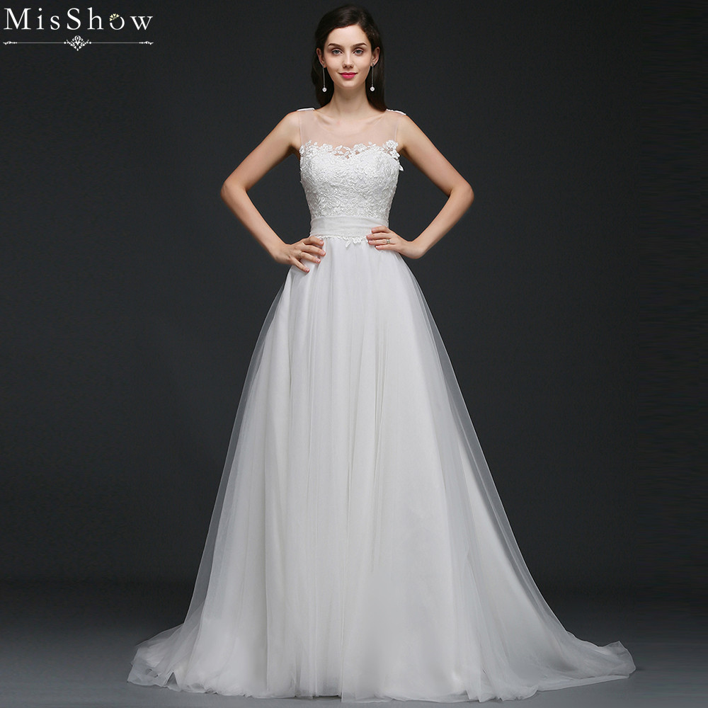 Aliexpress.com : Buy MisShow 2018 Simple Lace Tulle
