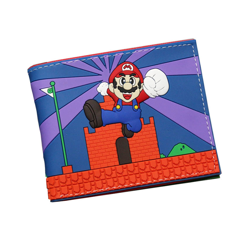 New Hot Super Mario Cute Dragon Ball Harry Potter Comic Wallets Leather Slim 3D Women Short Purse For Teenagers Gift Men Wallet hot super mario purse games cartoon super mario logo wallets red dollar bag carteira gift men women kid fashion pvc short wallet