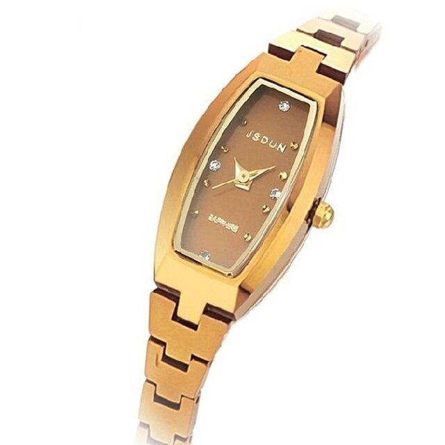 Watch tungsten steel quartz watch fashion gold women's watch women's waterproof fashion wristwatch