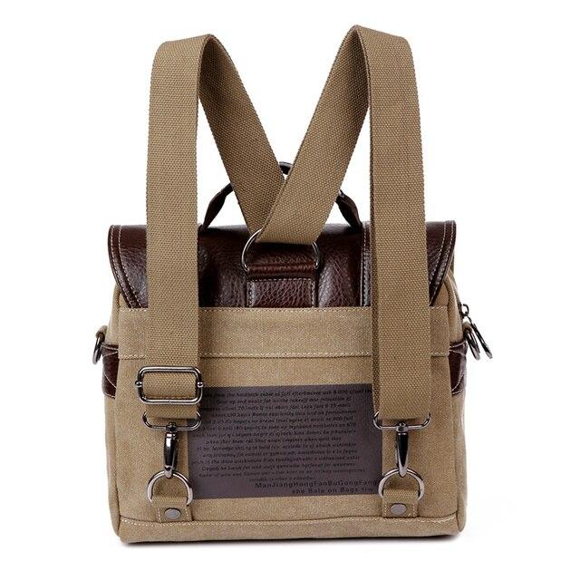 Leather Men Messenger Bags Vintage Shoulder Bag Men Canvas Casual Crossbody Bags For Men Male Handbag 3