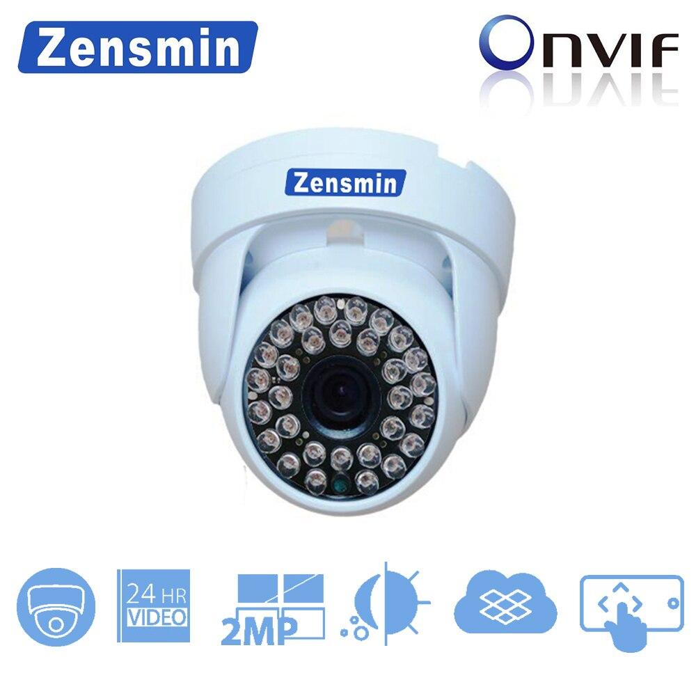 Zensmin H.265 2.0MP IP Dome CCTV Camera indoor 1080p 48V poe camera system home security 24hours mobile app monitoring video цены онлайн