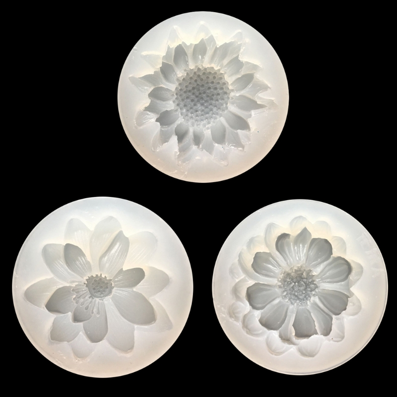 DIY Silicone 3D Flower Moulds Mold Resin Jewelry Pendant Making Tool Crafts New  T15