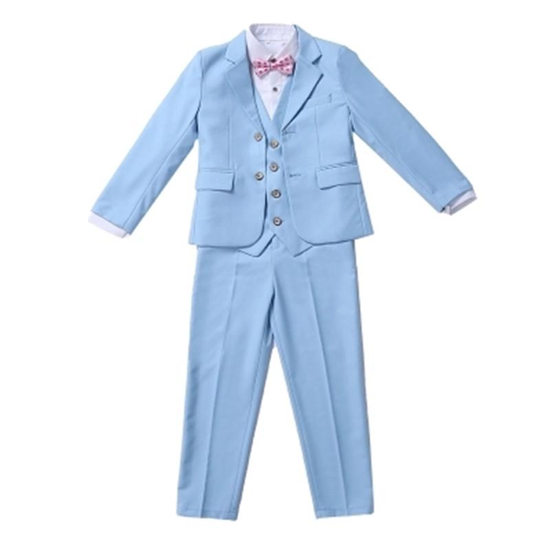 High-quality 2018 autumn boys wedding costume formal blazer suits england style boys prom vest blazer suit children clothing set blazer georgede blazer