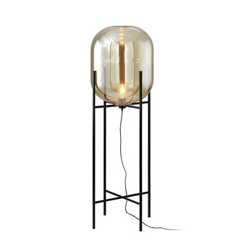 smoke glass lamp floor lamp loft replica design lamp modern stained glass sculpture lighting cognac glass shade standing light lamp