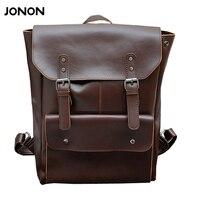 Jonon Fashion Men Backpack Mens Leather Bag Men Travel Backpack School Bag Famous Brands High Quality