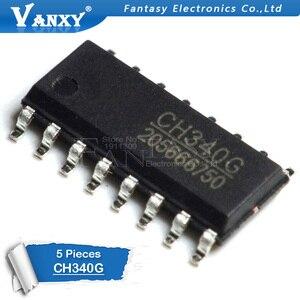 Image 2 - 5 Chiếc CH340G SOP16 340G SOP 16 CH340 SOP Ban Đầu IC R3 Ban Free USB Cáp Nối Tiếp Chip