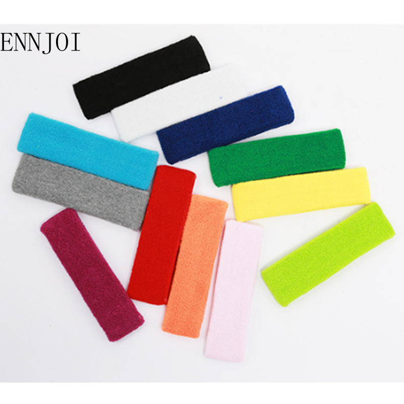 High Quality Elastics Breathable Cotton Outdoor Fitness Safety Sweat Headband For Men Sweatband women Yoga Hair Bands