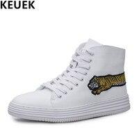 Bianco di lusso High-top scarpe Uomo Fashion Ankle Boots Lace-Up scarpe Casual Maschile Giovani popolari scarpe Da Ballo 03