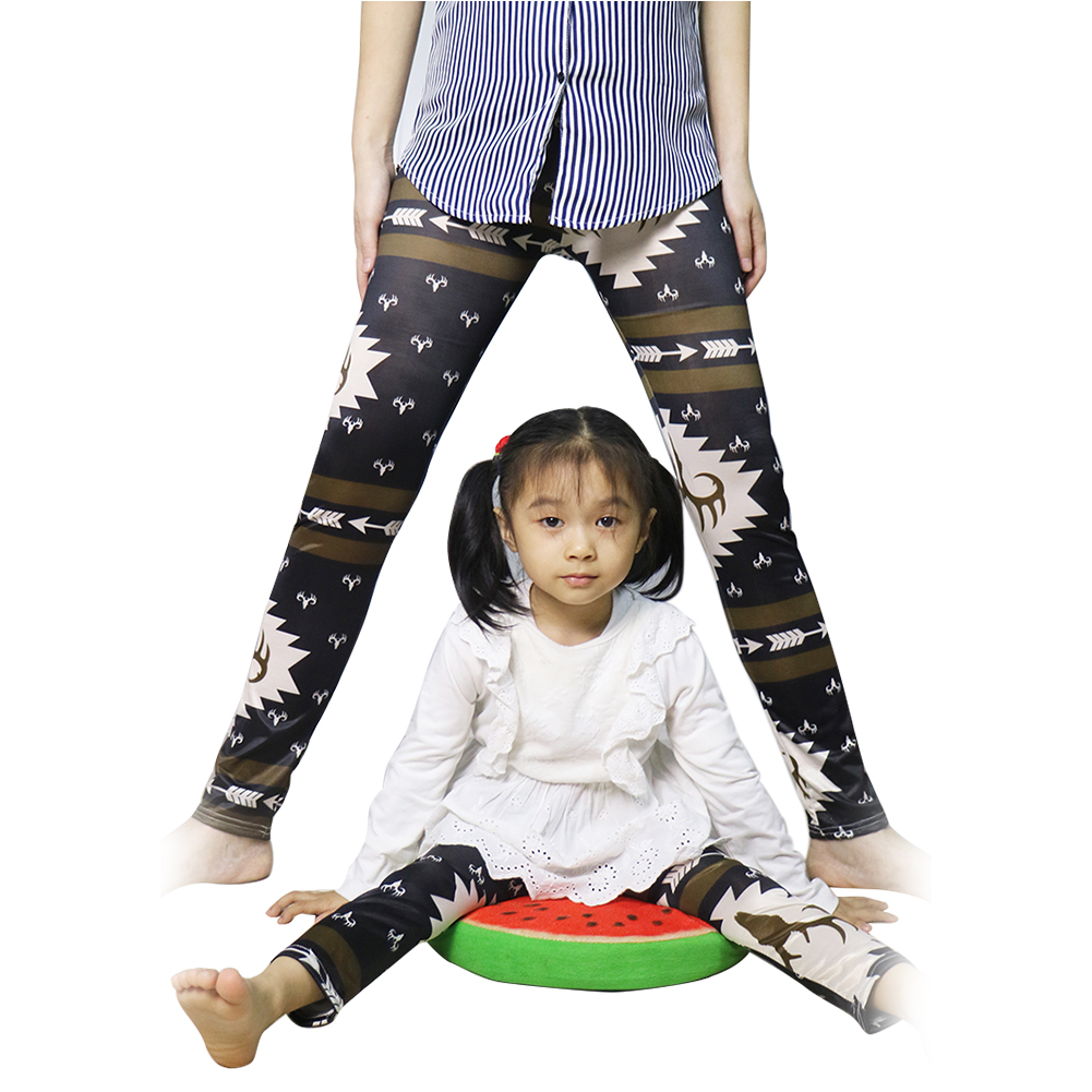 Parent-child Pants Adult Kids Baby Floral Print Trousers Soft Leggings Family Matching Outfits Pants