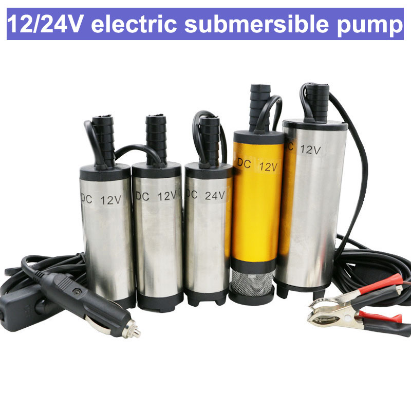 12V 24V DC electric submersible pump for pumping diesel oil water stainless steel shell 12L/min fuel transfer pump 12 V volt image