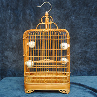 Bird cage bamboo bird cage , with cover ,bowl