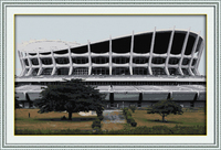 アフリカ国家劇場ホーム風景dmc の装飾クロス ステッチ キット カウント白11ct プリント刺繍diy手作り裁縫壁