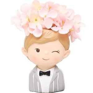 Image 5 - Roogo 植木鉢現代植木鉢カップル愛好家植木鉢多肉植物かわいい装飾結婚式の装飾のため