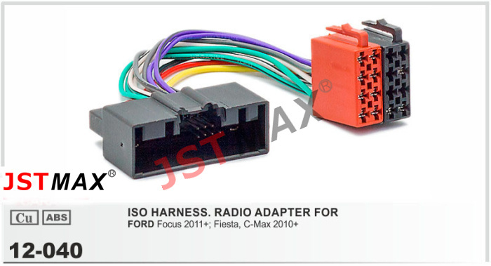ford wiring harness connectors promotion shop for promotional ford jstmax car iso auto radio adapter connector for ford focus fiesta c max wiring harness wire cable plug adaptor