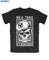 Good T Shirt Designs Graphic Men Punk S York Hardcore Nyhc Skull O-Neck Short-Sleeve T Shirts
