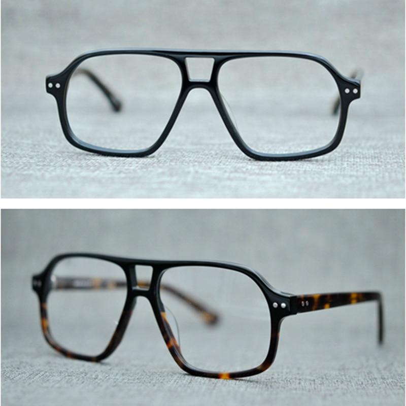Vazrobe Vintage acétate lunettes hommes femmes lunettes de vue cadres homme qualité Prescription lunettes lunettes clair lentille rétro mâle
