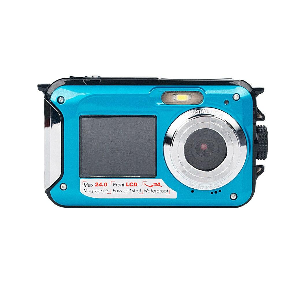 Nouveau 2.7 pouces Mini caméra numérique étanche 1080 P Double écran 16x Zoom numérique caméscope intégré haut-parleur Micphone