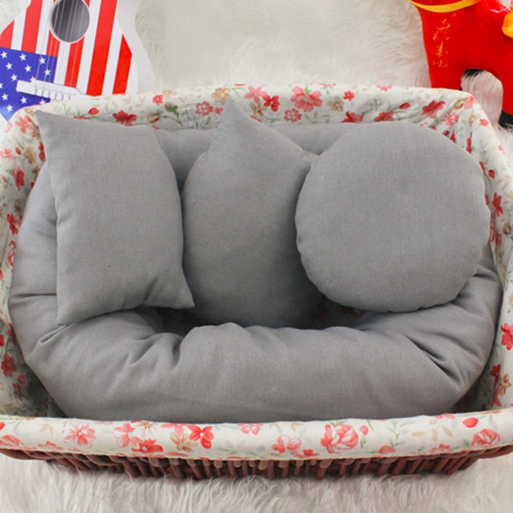 4PCS/Set Newborn Photography Pillow Basket Filler Tool Baby Wheat Positioner Donut Posing Props beanbag Baby Cushion Pillow Ring