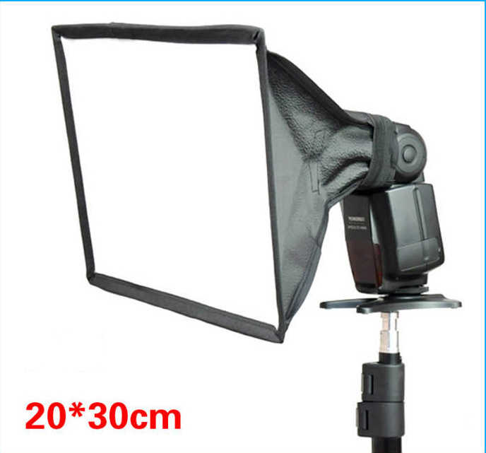 BIZOE 20*30cm 15*17cm Softbox Difusor de Flash Speedlite Photo Studio Acessórios para Canon Nikon Pentax sony