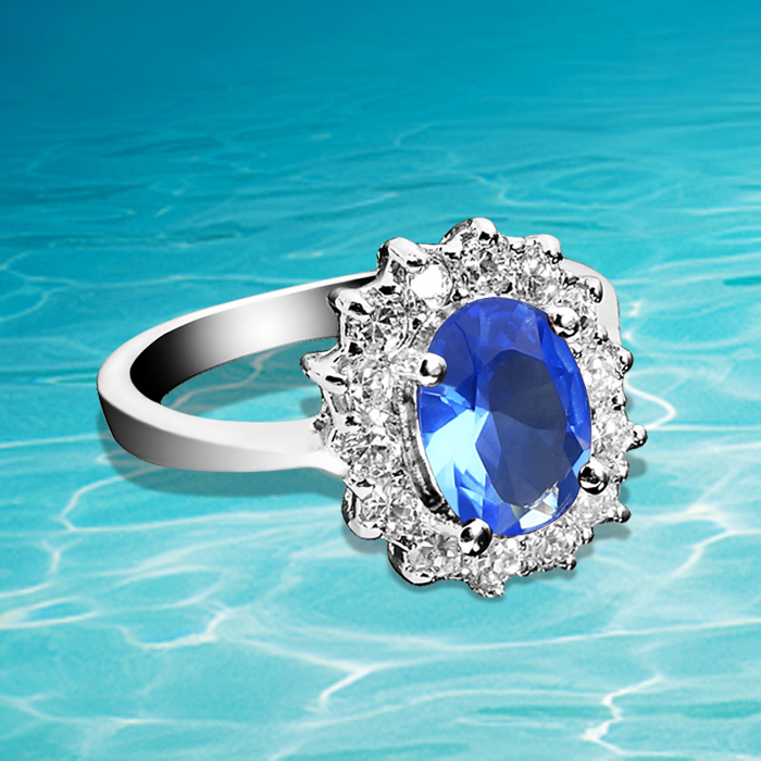 Glitz Glam Blue Diamontrigue Jewelry: Aliexpress.com : Buy 925 Sterling Silver Ring, Aulic Royal
