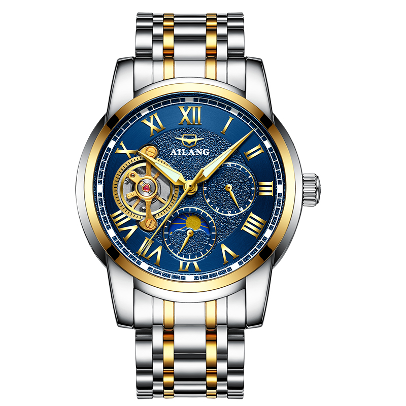 AILANG 8520 Switzerland watches men luxury brand automatic mechanical Tourbillon Moon phase business luminous fashion sports