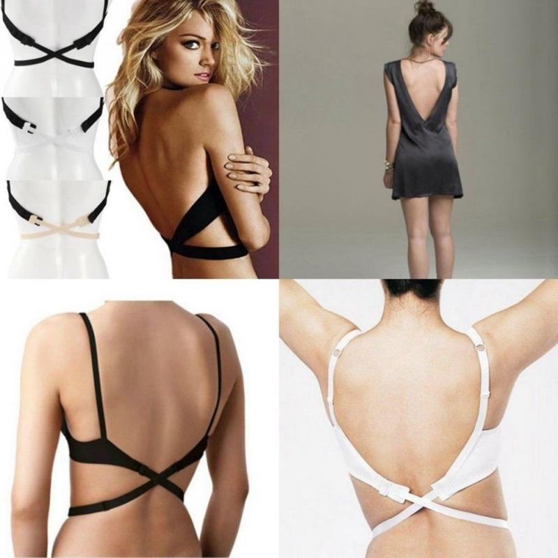 New Fashion Style  Women Low Back Bra Strap Adjustable Bra Strap Hook Converter Extender