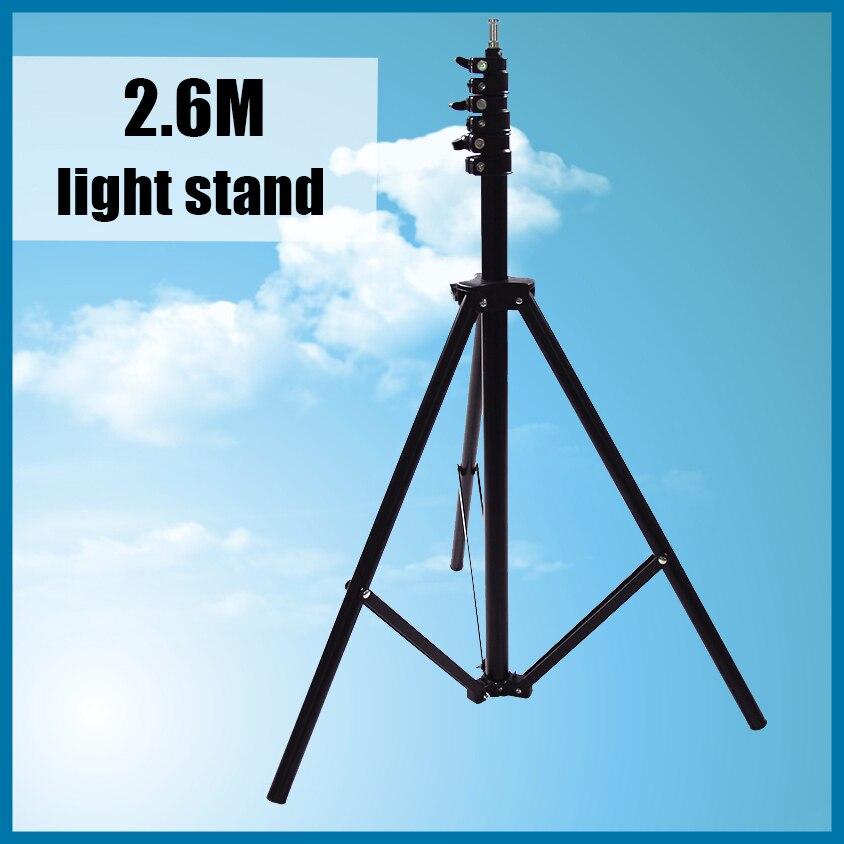 Venda quente 2.6 cm Tripé de Luz para a Foto Da Câmera de Vídeo iluminação Flash Lâmpadas 4 Seções em Conjunto Estúdio de Fotografia + Rastreamento número