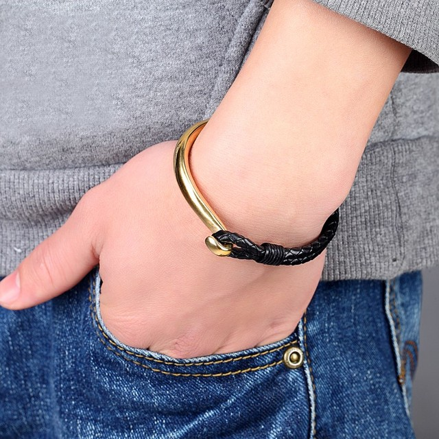 лидер продаж 2019 модный мужской браслет женские браслеты с фотография