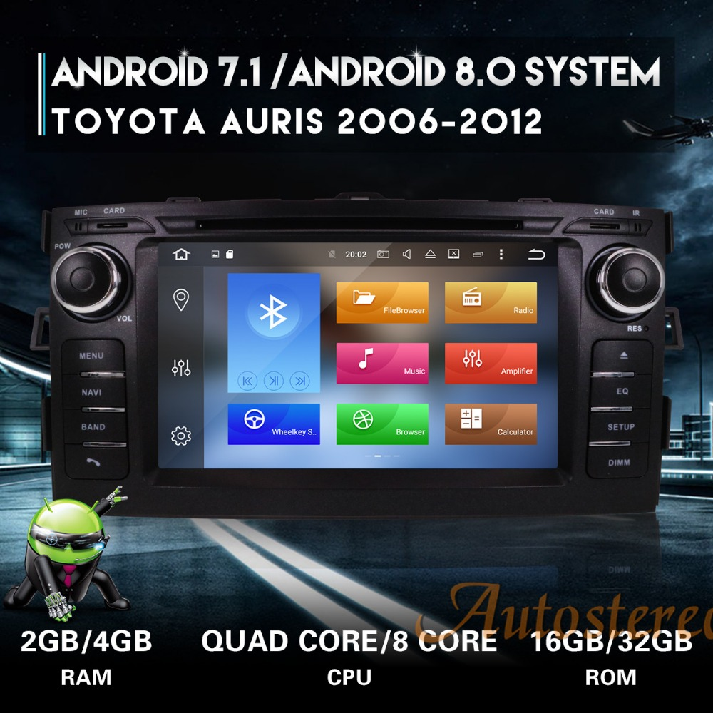The Newest Android8 7 1 Car DVD Player GPS navigation Auto Stereo Unit For Toyota Auris