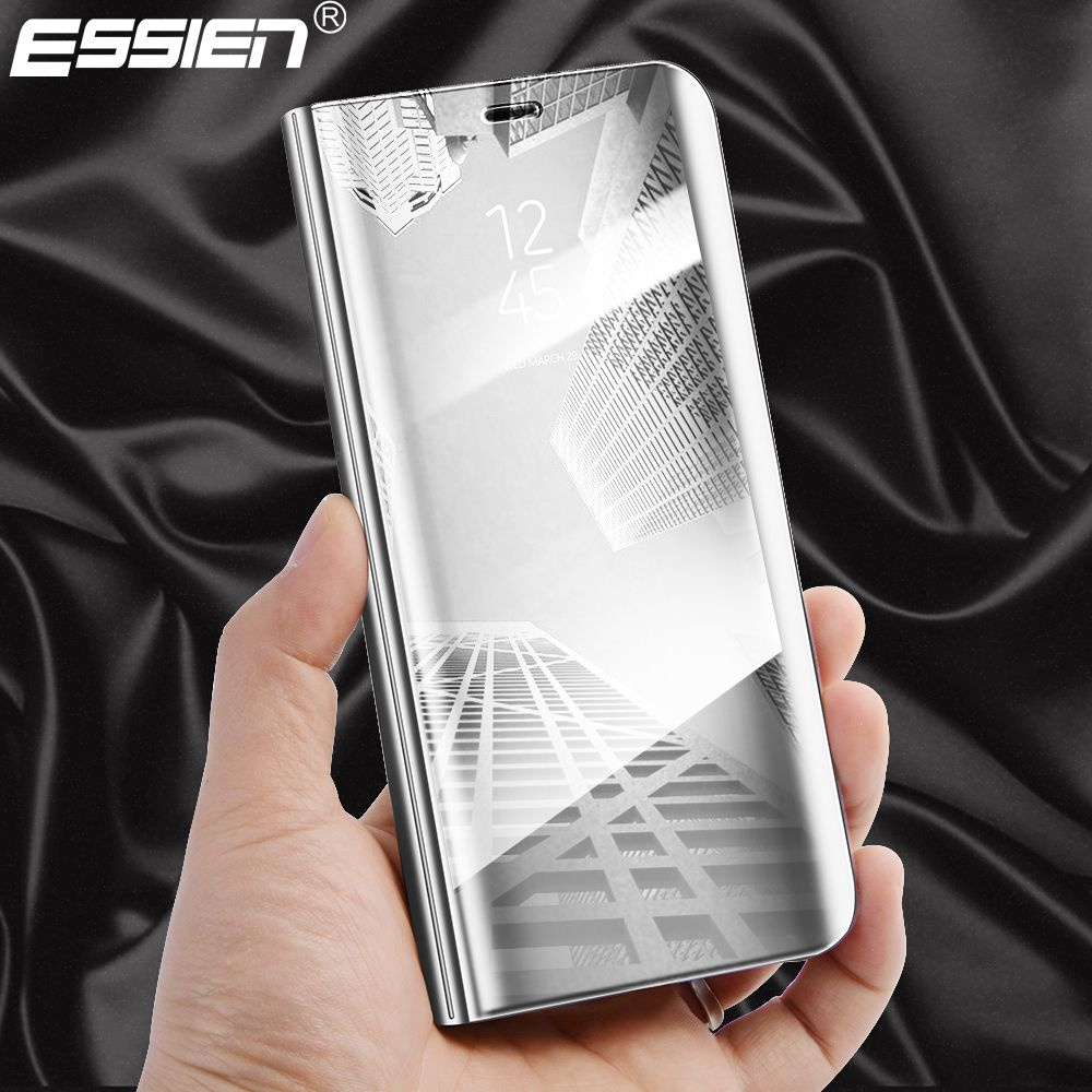 Essien Plating Mirror View PU leather Smart Window Stand flip case for Huawie P10 / P10 Plus , For Huawei P10 Hard PC Full Cover ...