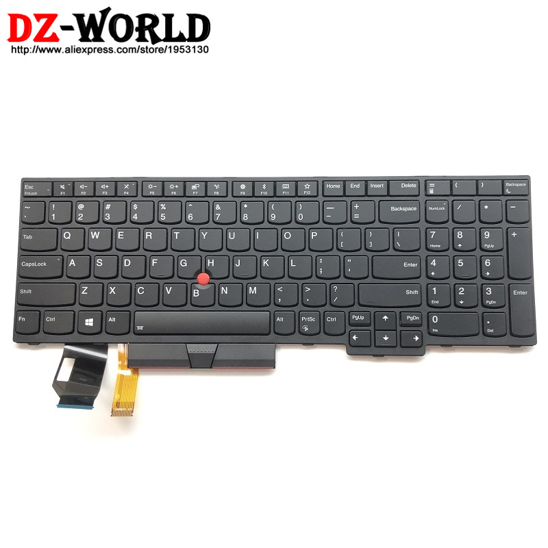 New Original for Lenovo Thinkpad E580 L580 P52 US English Backlit Keyboard Backlight Teclado 01YP680 SN20P34496 01YP600 01YP760 new original for lenovo thinkpad t470 t480 a475 us english backlit keyboard backlight teclado 01ax569 sn20l72890 01ax487 01ax528