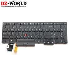 جديد/اوريج لوحة مفاتيح US انجليزية باضاءة خلفية لينوفو ثينك باد E580 E590 T590 P53S L580 L590 P52 P72 P53 P73 خلفية للابتوب 01YP680
