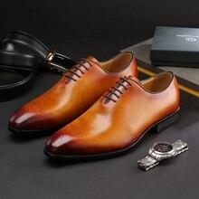 Итальянские дизайнерские официальные мужские туфли оксфорды из натуральной коровьей кожи, на шнуровке, с острым носком, в деловом стиле, для работы, под платье, мужская обувь