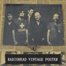 Momento acogedor Radiohead Vintage póster música Rock británica Retro Kraft Bar restaurante decoración de la pared pintura QT386