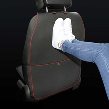 Colorful Leather Car Backseat Protection With Storage Pocket