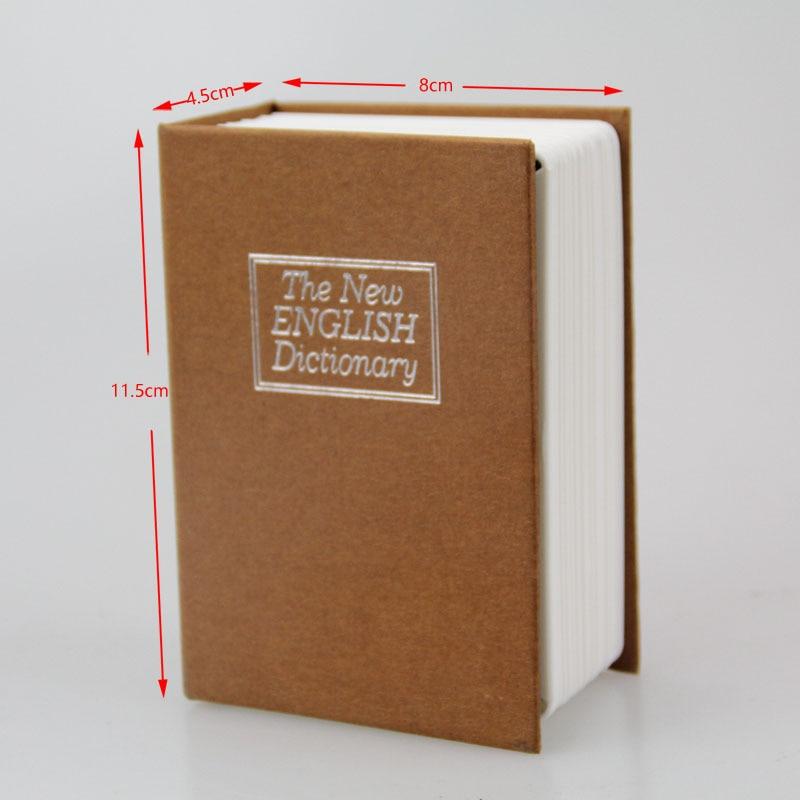 WOFO Metal Mini Cash Secure Hidden English Dictionary Money Box Coin Storage Books Safe Secret Piggy Bank 11.5*8*4.5CM