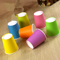 Multi Paper Cups 50pcs Pack Party Paper Cup Disposable Wedding Party Supplies Kids Birthday Party Supplies