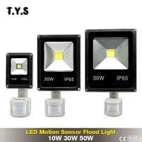 Движения Pir Сенсор Светодиодный прожектор 10 Вт 30 Вт 50 Вт светодиодный прожектор, Точечный светильник, уличное освещение проектор настенный ...