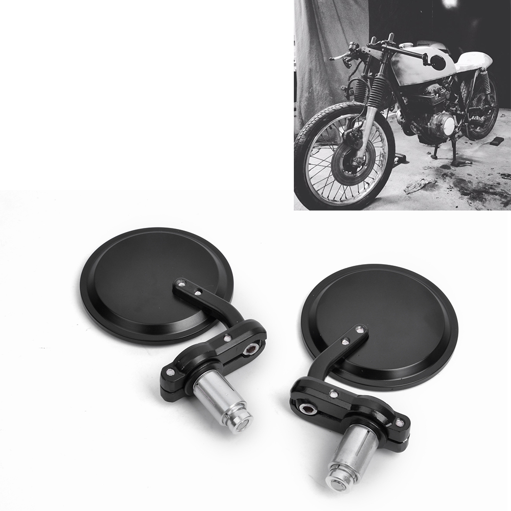 цена на Universal Handlebar Mirror CNC Motorcycle 7/8 22mm HANDLE BAR END MIRRORS REARVIEW SIDE MIRRORS