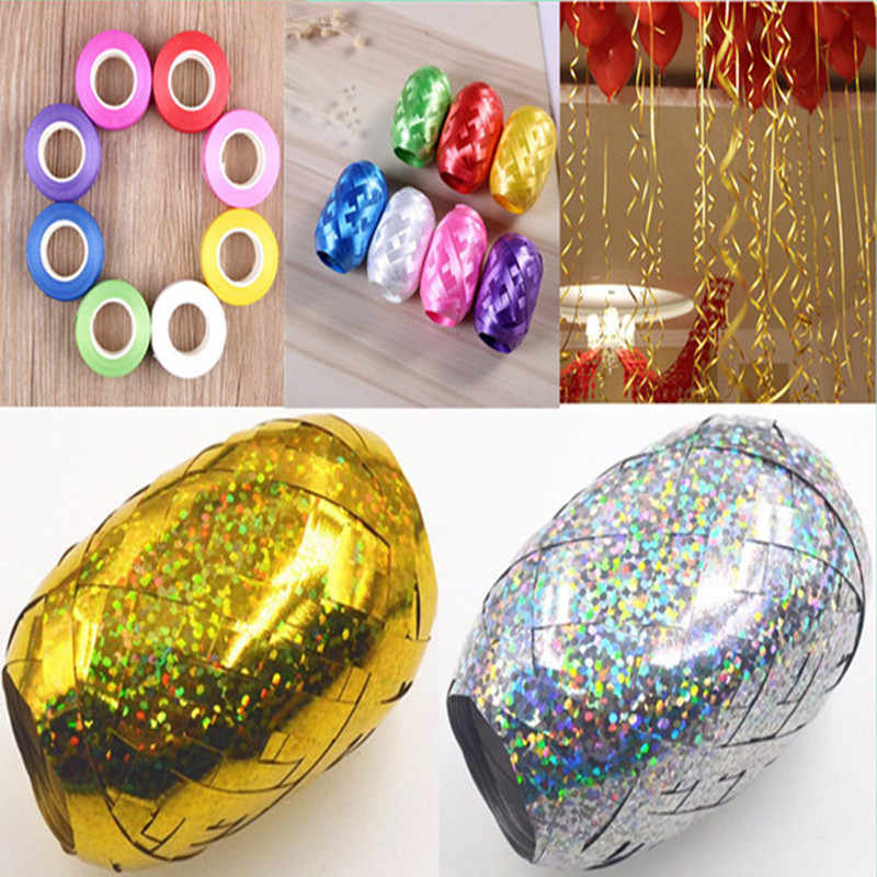 1pcs Balloon Colour Ribbon Laser 5mm*10m Wedding Birthday Party Decoration Air Balloon Rope Tape Wrapping Color Laser