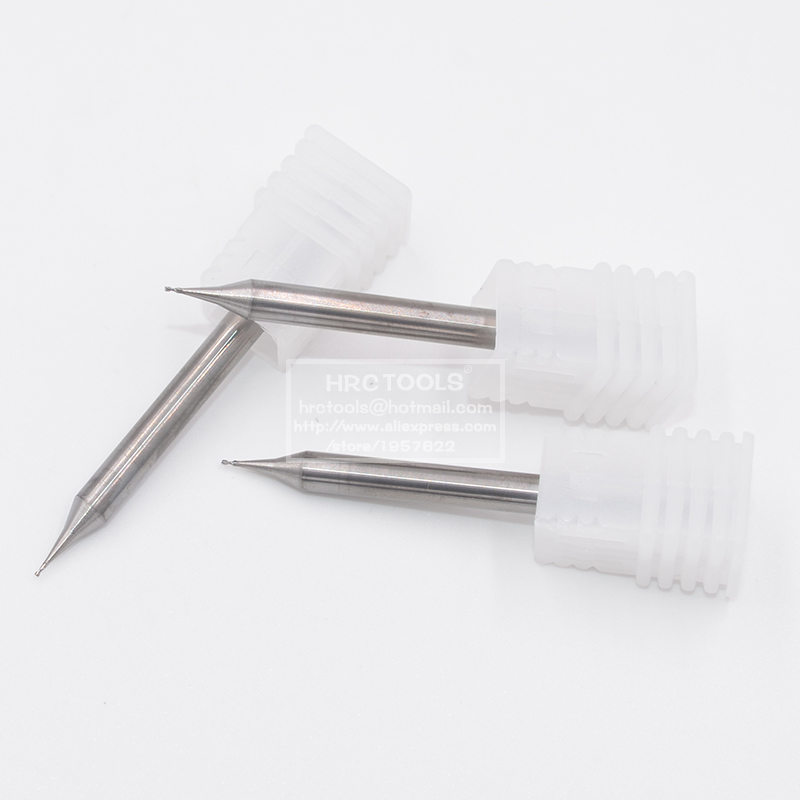 0.6MM micro end mill HRC55 flat Carbide CNC milling cutter silver engrave carve