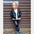 Spring Kids baby Jacket PU Leather baby Girls Jackets Clothes Children Outwear For Baby Girls Boys Clothing Zipper Coats Costume