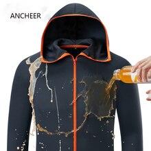 Гидрофобный лед шелк человек рыбалка одежда Открытый Отдых Туризм с капюшоном куртки водостойкие против Обрастания быстросохнущие-защита