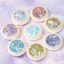 28 Designs Nail Powder 1box*3ml Chrome Nails 1box Holographic Acrylic Glitter Decorations For False Art#