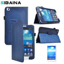 Stand Leather Case for Samsung Galaxy Tab 3 8.0 T310 T311 Flip Leather Tablet Cases for Samsung Galaxy Tab 3 Cover Bag
